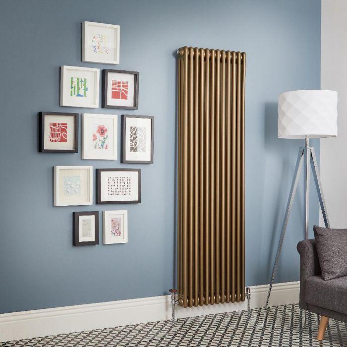 Milano Windsor - Metallic Bronze Vertical Traditional Column Radiator (Triple Column) - All Sizes