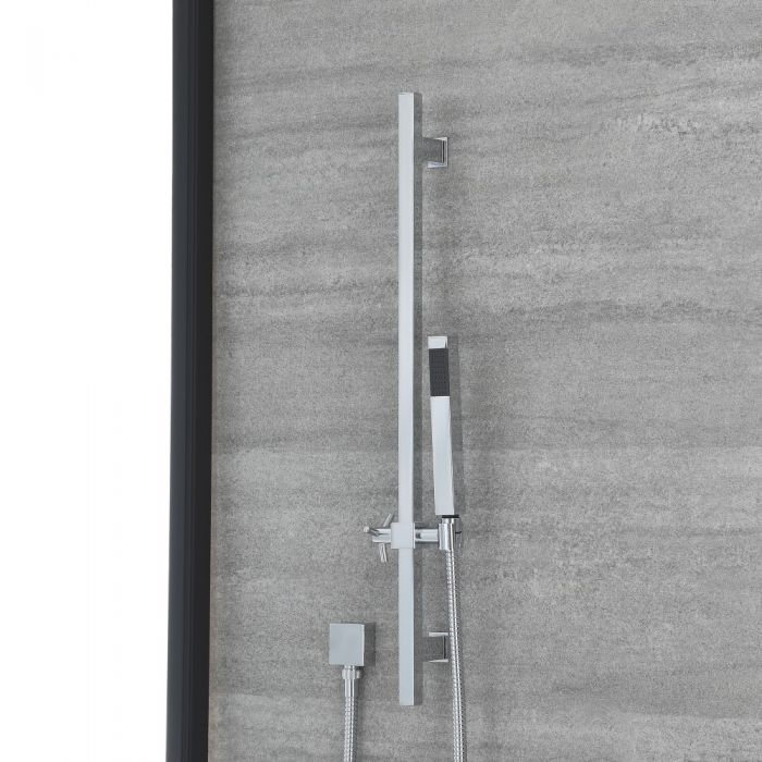 Milano Select - Modern Riser Rail Kit with Hand Shower and Outlet Elbow - Chrome