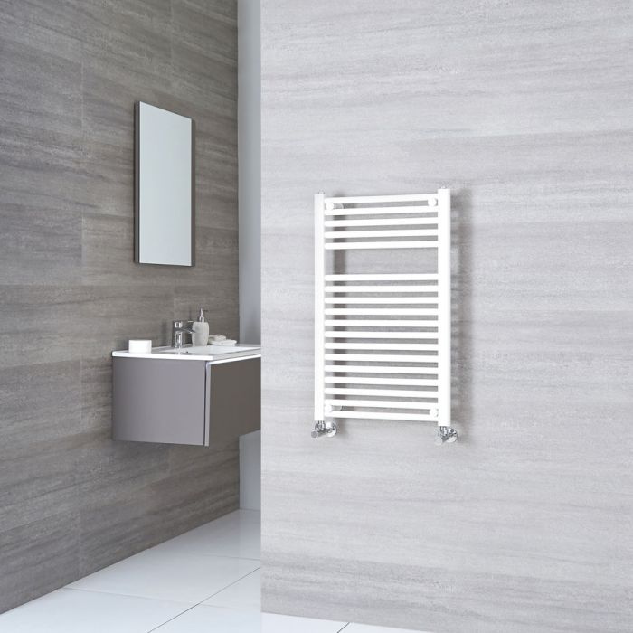 Sterling - White Flat Heated Towel Rail - 800mm x 500mm