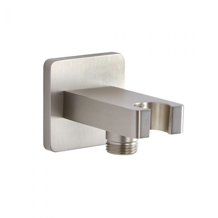 Milano Hunston - Outlet Elbow with Parking Bracket - Brushed Nickel