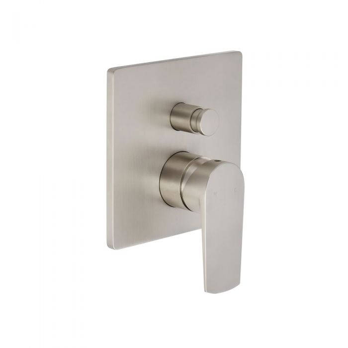 Milano Arcadia - Modern Manual Shower Valve - Two Outlets - Brushed Nickel