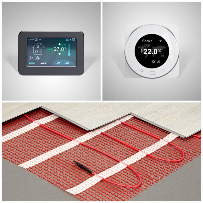 Milano - Electric Underfloor Heating - Choice of Sizes and Wi-Fi Thermostat