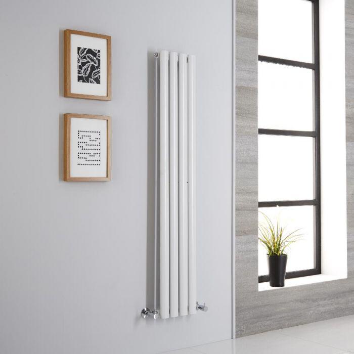 Milano Aruba - White Vertical Designer Radiator - 1400mm x 236mm