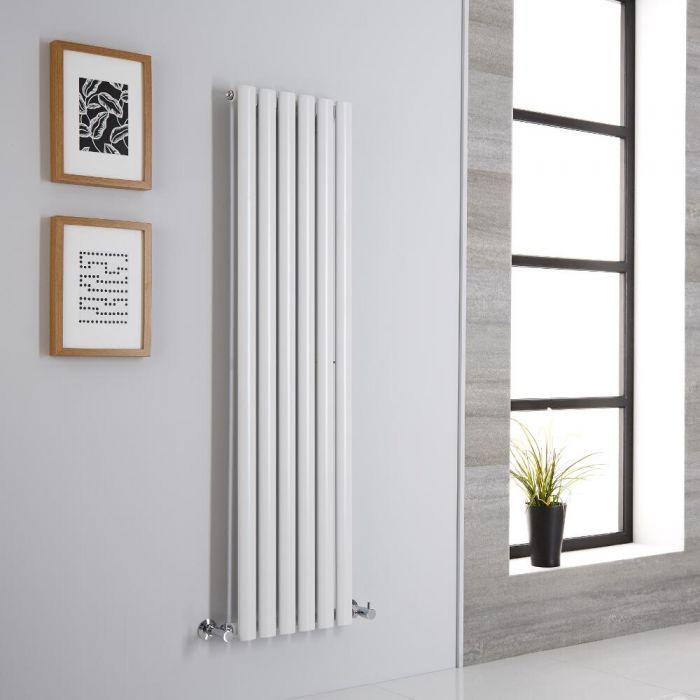 Milano Aruba - White Vertical Designer Radiator - 1400mm x 354mm