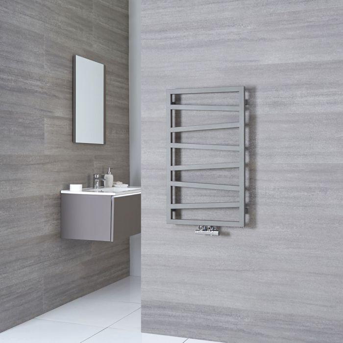 Terma ZigZag - Silver Vertical Heated Towel Rail - 835mm x 500mm