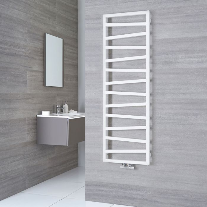 Terma ZigZag - White Vertical Heated Towel Rail - 1545mm x 500mm