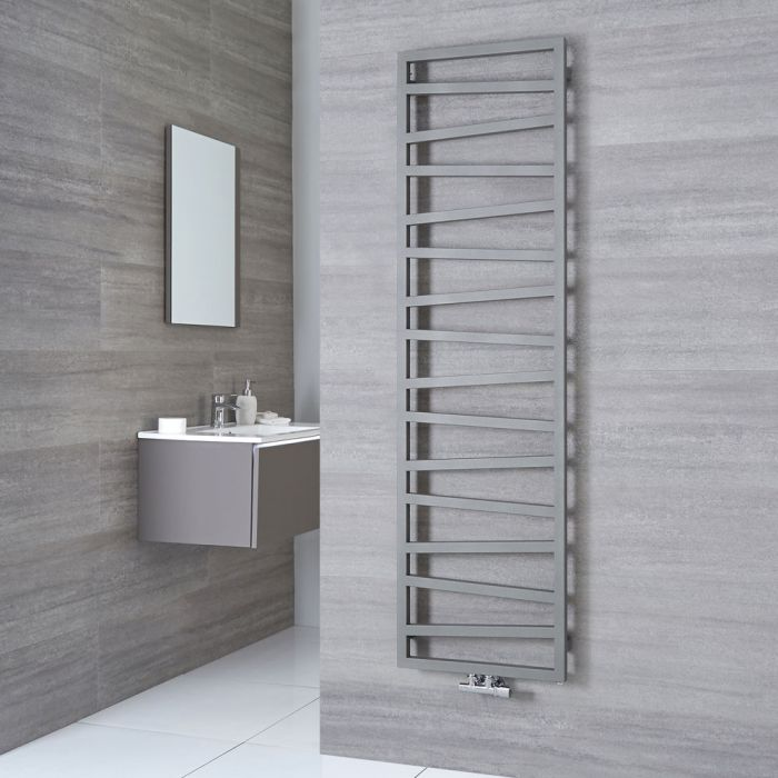 Terma ZigZag - Silver Vertical Heated Towel Rail - 1780mm x 500mm