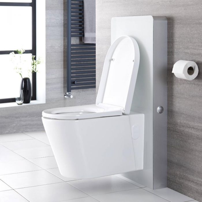 Milano Arca - White 500mm WC Unit (Excluding Pan)