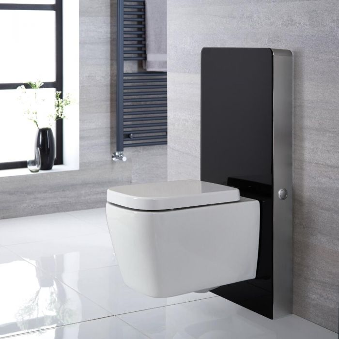 Milano Arca - Black 500mm WC Unit (Excluding Pan)