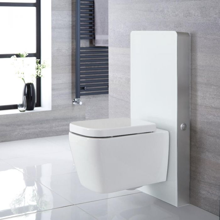 Milano Arca - White 500mm Complete WC Unit with Longton Toilet
