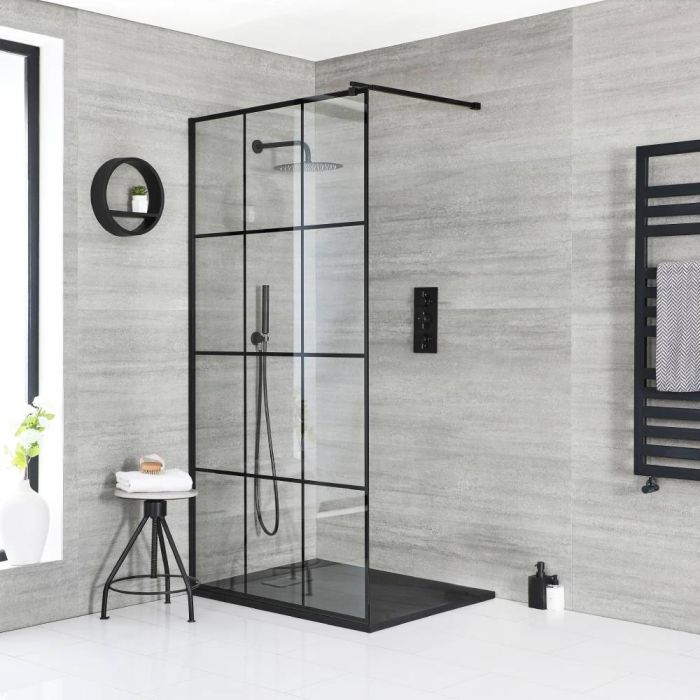 Milano Barq - Walk-In Shower Enclosure with Slate Tray - Choice of Sizes