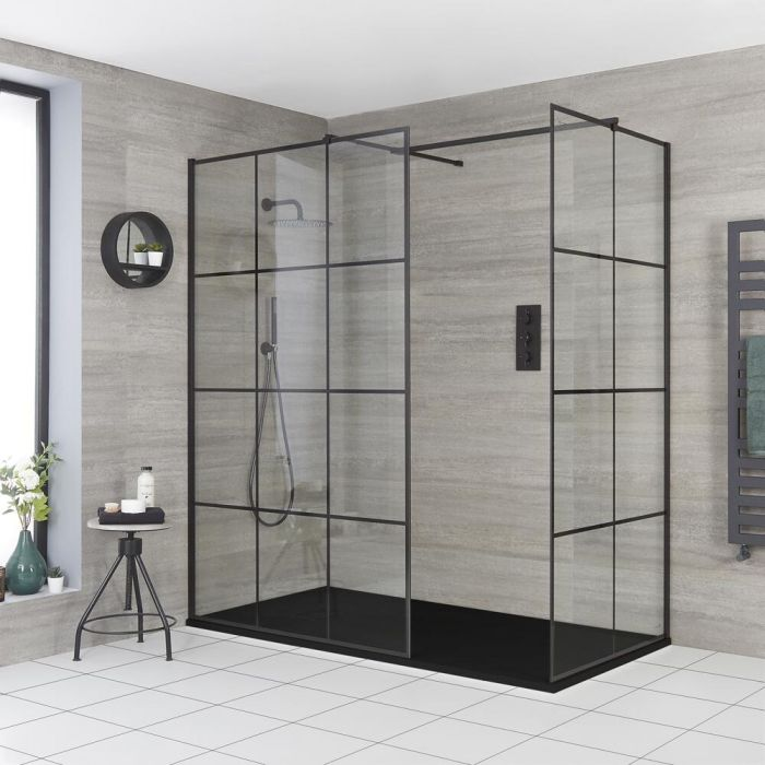 Milano Barq - Corner Walk-In Shower Enclosure with Slate Tray - Choice of Sizes