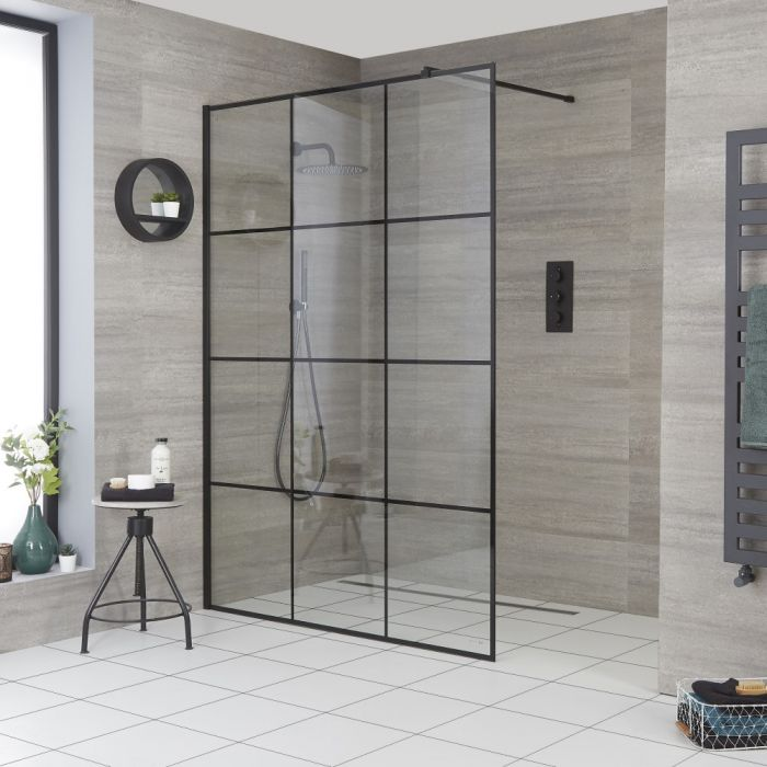 Milano Barq - 1950mm Wet Room Screen - Choice of Sizes
