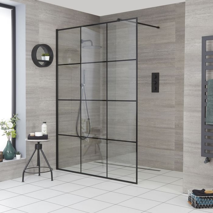 Milano Barq - Recessed Wet Room Shower Enclosure - Choice of Glass and Drain