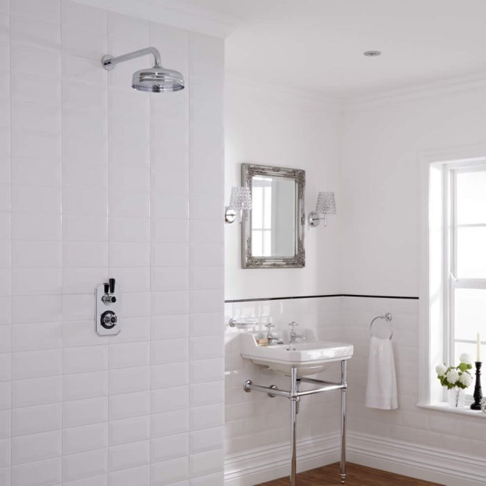 Milano Elizabeth - Traditional Wall Mounted Shower Head with 1 Outlet Concealed Shower Valve