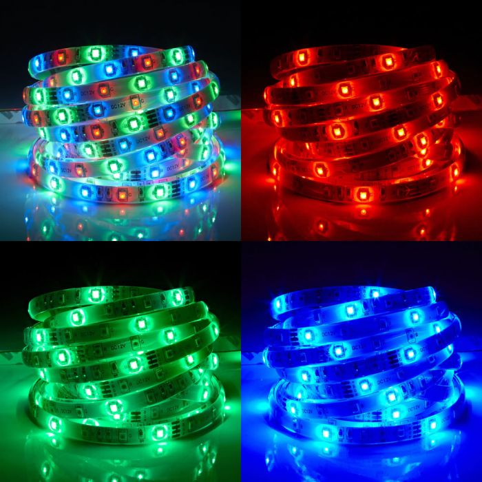 Biard LED IP65 5m 3528 Strip Light - RGB