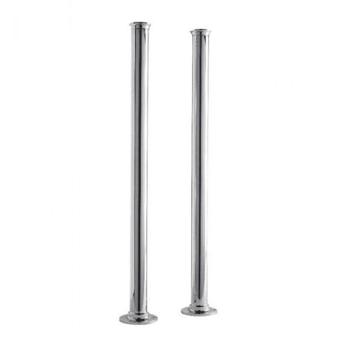 Milano Select - Traditional Floor Standing Bath Standpipes for Bath Filler or Bath Shower Mixer Taps - Chrome