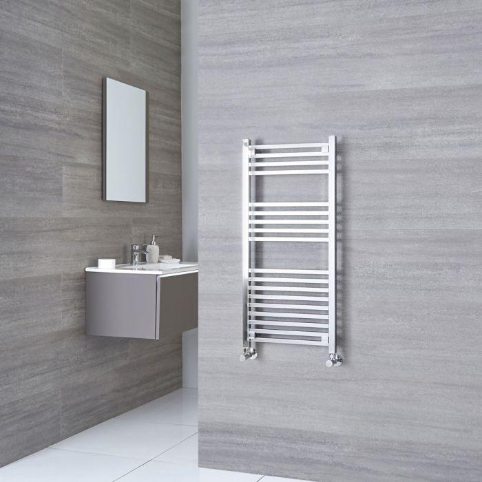 Kudox - Chrome Heated Towel Rail - 974mm x 450mm