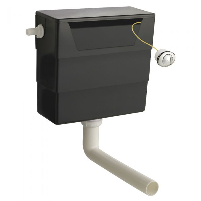 Milano - Black Recessed Concealed Universal Access Cistern for Back To Wall Toilet Pan