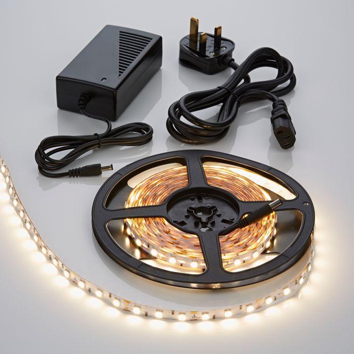 Biard LED IP20 5m 5050 Plug & Play Strip Light Kit - Warm White