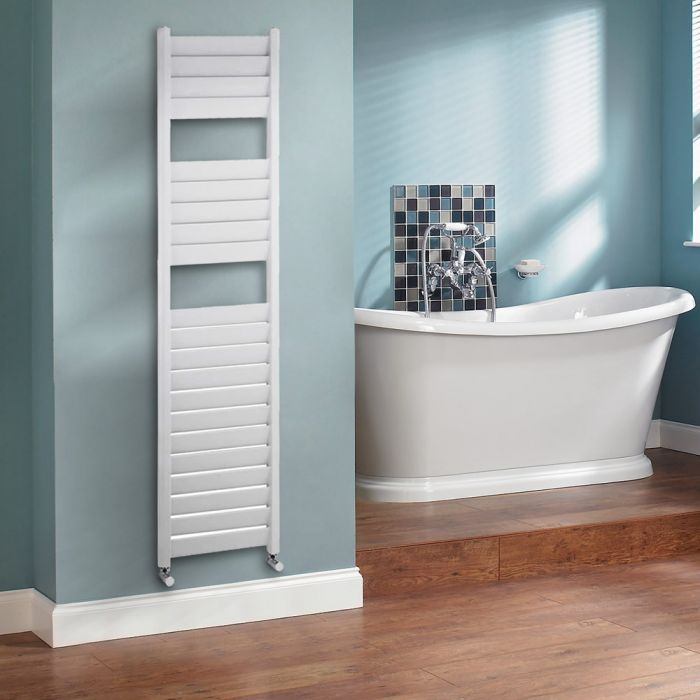 Milano Select - White Designer Heated Towel Rail - 1810mm x 440mm