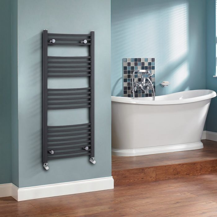 Milano Select - Anthracite Designer Heated Towel Rail - 1150mm x 500mm