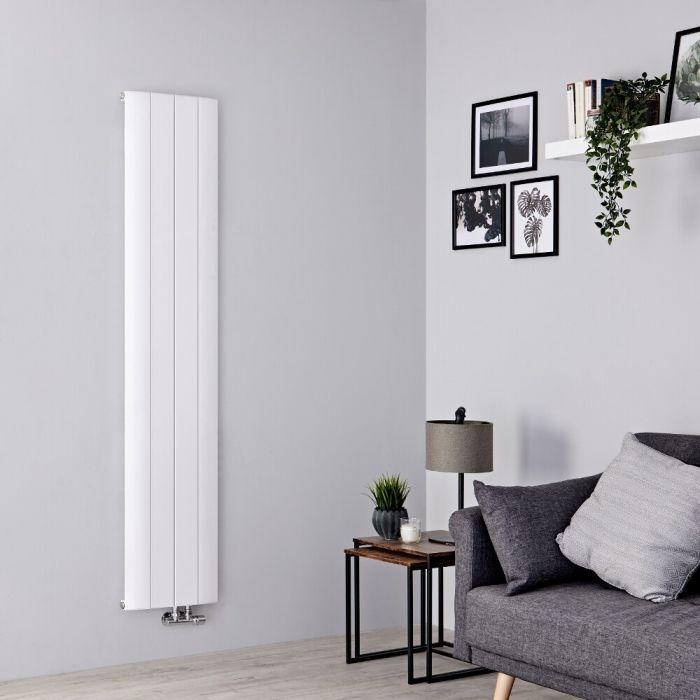 Milano Skye - Aluminium White Vertical Designer Radiator - 1800mm x 375mm