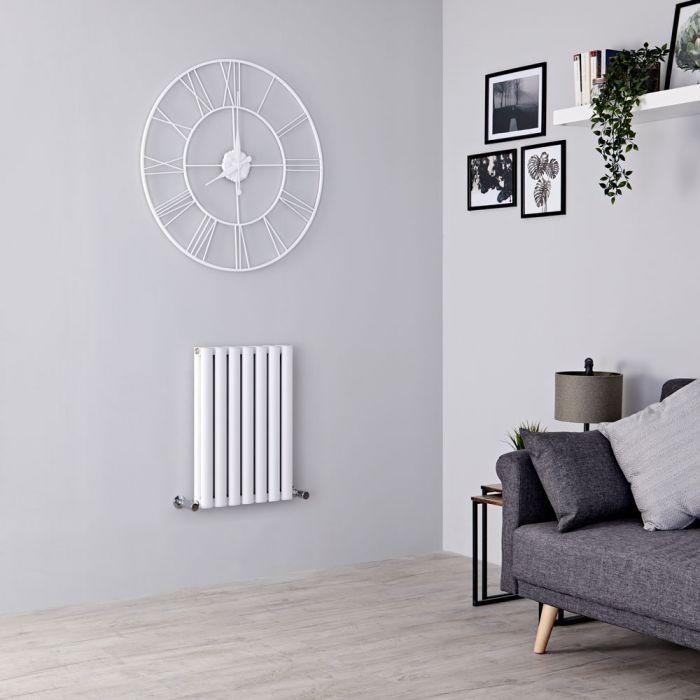 Milano Aruba Ayre - Aluminium White Horizontal Designer Radiator - 600mm x 410mm (Double Panel)
