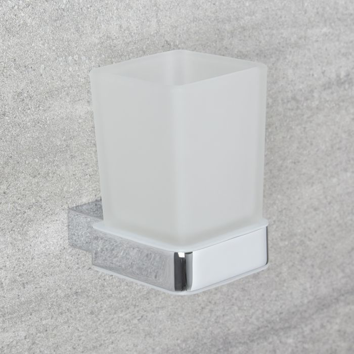 Milano Arvo - Modern Tumbler Holder - Chrome