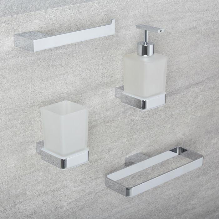 Milano Arvo - Modern 4 Piece Chrome Accessory Pack