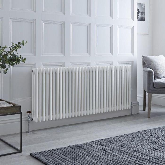 Milano Windsor - White Horizontal Traditional Column Radiator - 600mm x 1505mm (Triple Column)