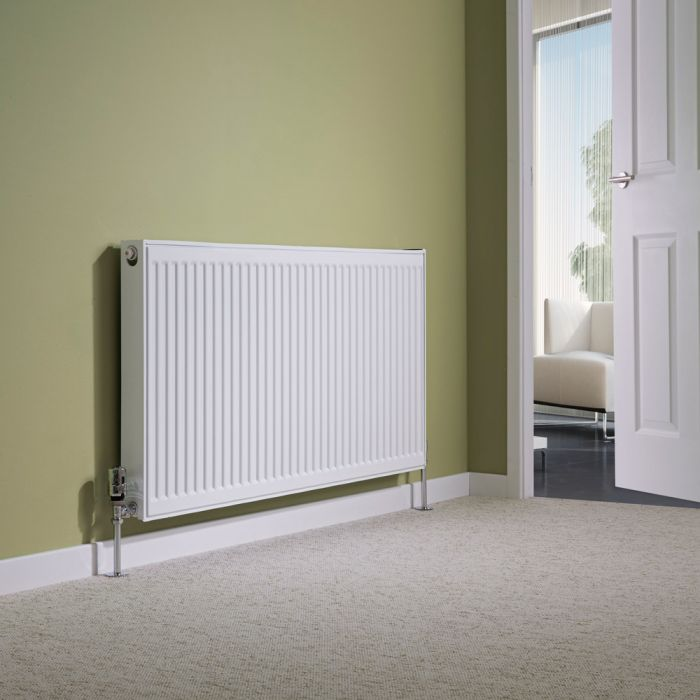Milano Compact - Single Panel Radiator - 600mm x 1200mm (Type 11)
