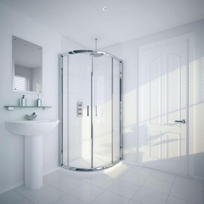 Milano Portland - Reversible Offset Quadrant Shower Enclosure - 1000mm x 800mm