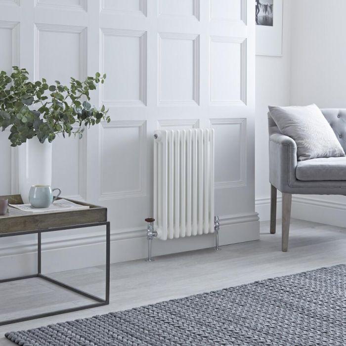 Milano Windsor - White Horizontal Traditional Column Radiator - 600mm x 425mm (Triple Column)