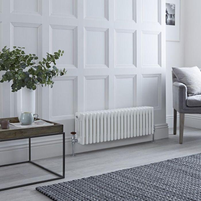 Milano Windsor - White Horizontal Traditional Column Radiator - 300mm x 1010mm (Four Column)