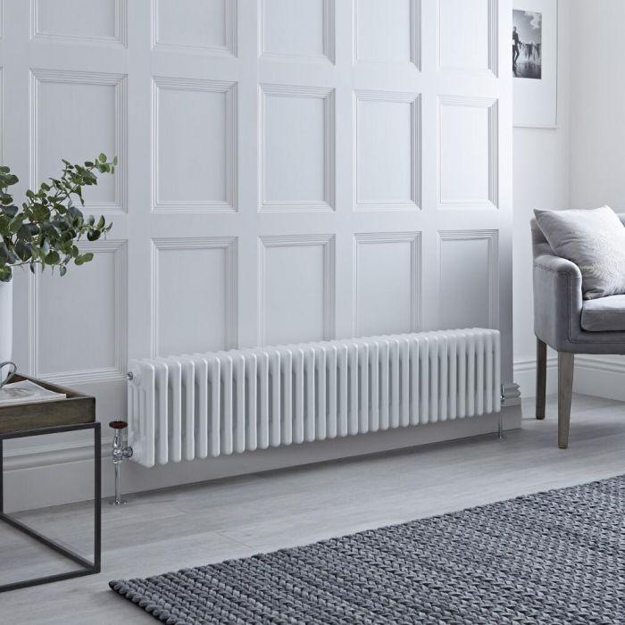 Milano Windsor - White Horizontal Traditional Column Radiator - 300mm x 1505mm (Four Column)