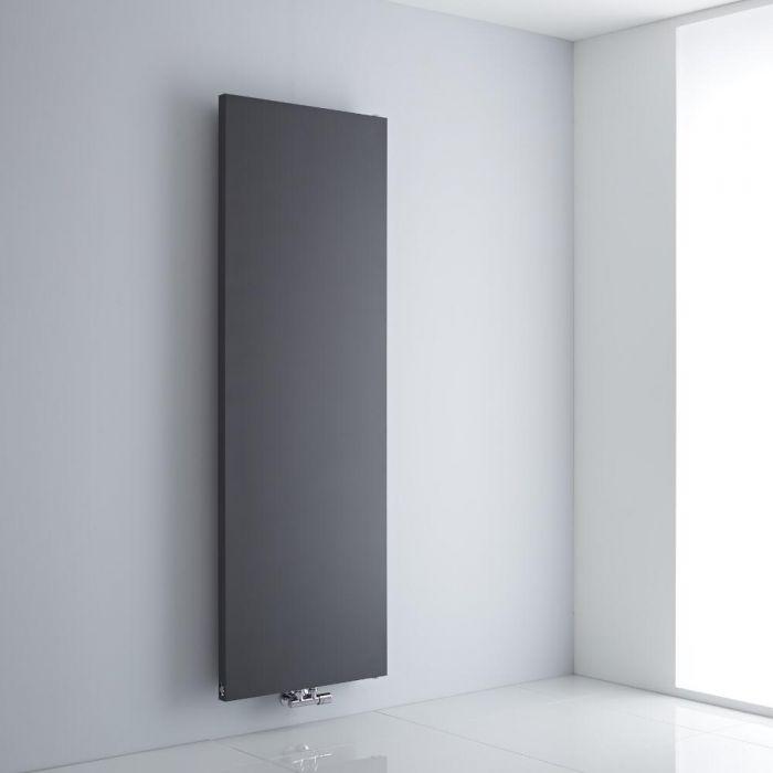 Milano Riso - Anthracite Vertical Designer Radiator - 1800mm x 600mm