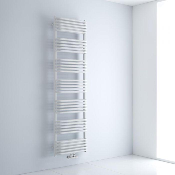 Milano Bow - White D-Bar Heated Towel Rail - 1800mm x 500mm