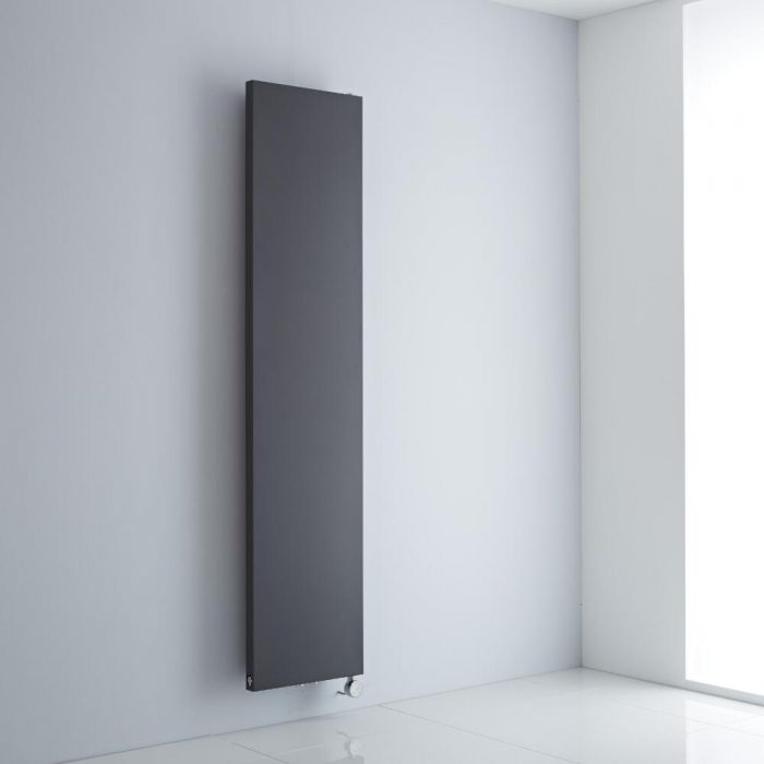Milano Riso Electric - Anthracite Flat Panel Vertical Designer Radiator 1820mm x 400mm