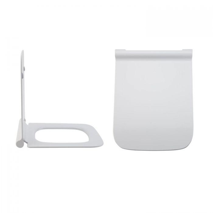 Milano Elswick - White Soft -Close Quick Release Top Fix Toilet Seat