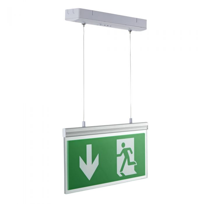 Biard LED 2.8W Emergency Exit Sign Double Sided Edge Light - Down/Left/Right