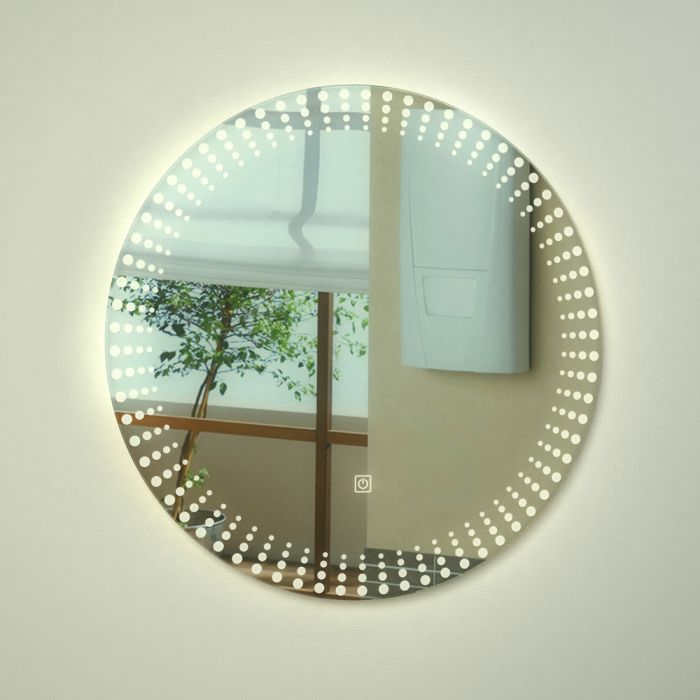 Milano Vistula LED Bathroom Mirror with Touch Sensor - ø600mm x 50mm