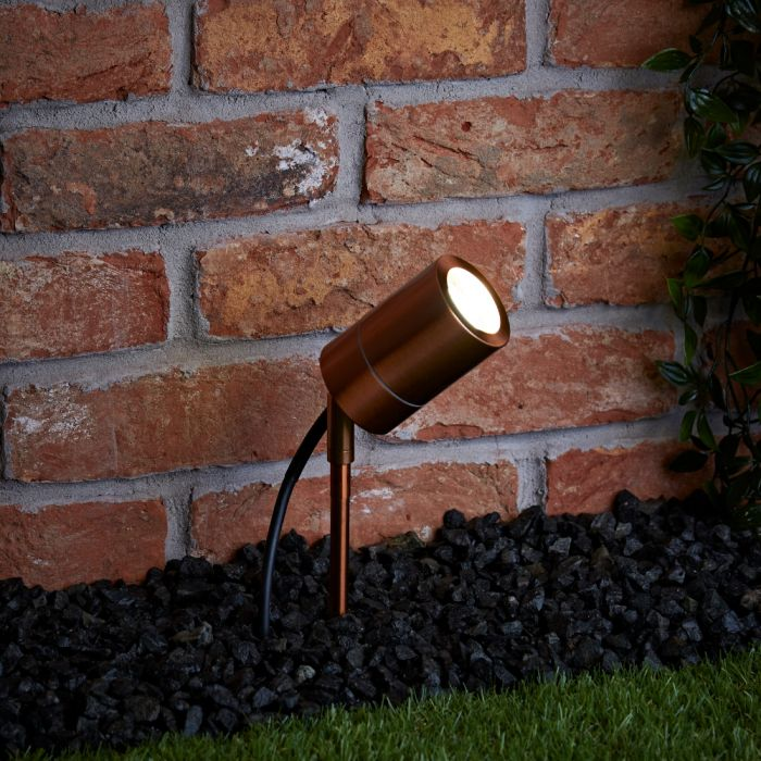 Biard Le Mans IP44 Outdoor Spike Light - Copper