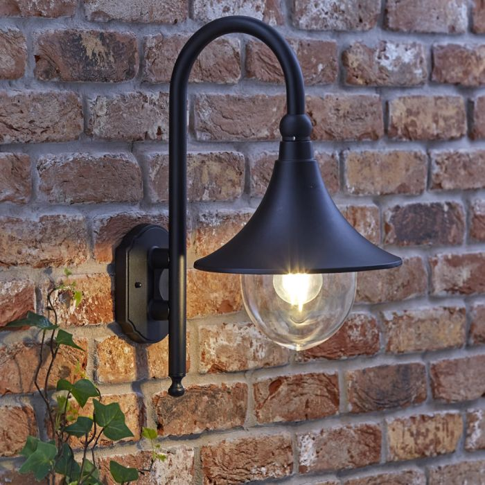 Biard Florence IP44 Swan Neck Outdoor Wall Light