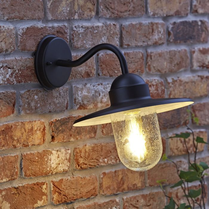 Biard Siena IP44 Gooseneck Wall Light