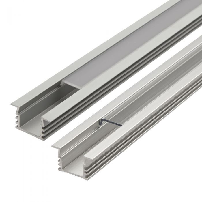 Biard Recessed Finned Aluminium Profile Cover and End Cap Set