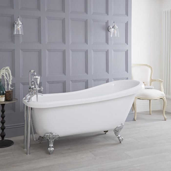 Milano Legend - 1700mm x 730mm Freestanding Slipper Bath with Choice of Feet