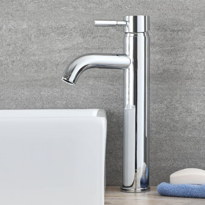 Milano Mirage - Modern Mono High Rise Basin Mixer Tap
