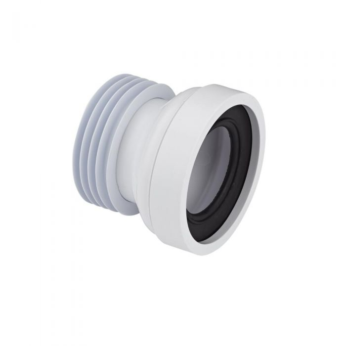McAlpine - White Straight Pan Connector