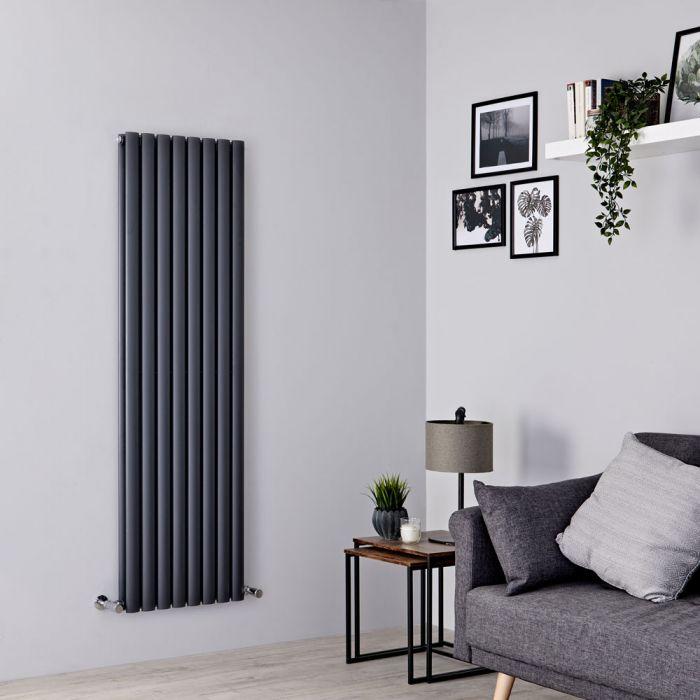 Milano Aruba - Anthracite Vertical Designer Radiator - 1600mm x 472mm (Double Panel)